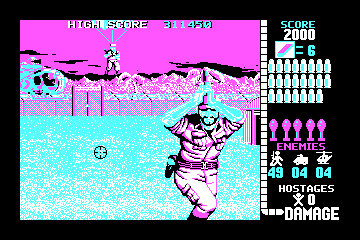 Operation Wolf actual CGA palette example 1