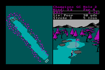 World Tour Golf actual CGA palette example 1