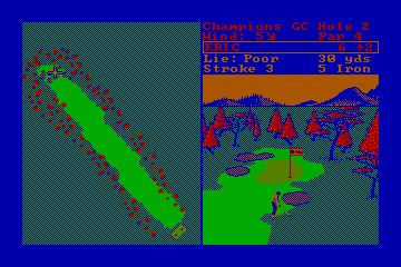World Tour Golf hypothetical CGA palette example 1