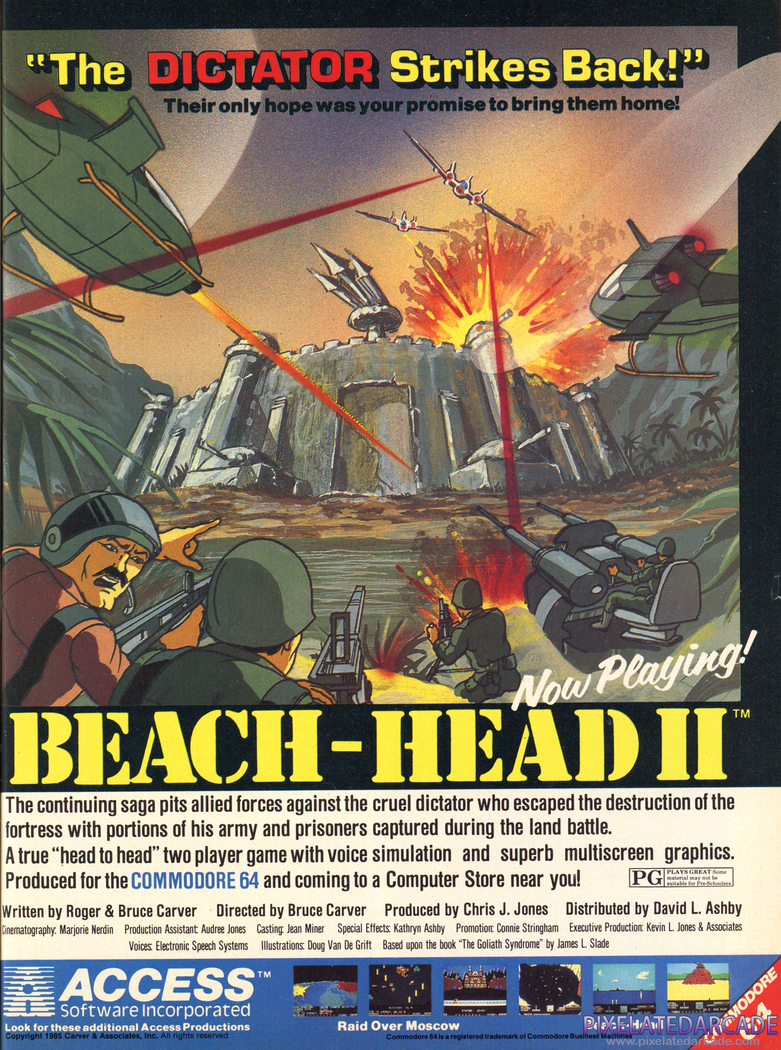 Beach-Head II: The Dictator Strikes Back Advertisement: April 1985 magazine ad