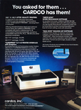 Cardco, Inc. printer 1985 magazine ad