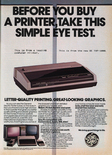 General Electric Printer 1985 magazine ad