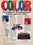 Okidata printer 1985 magazine ad