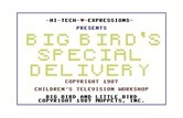 Big Bird's Special Delivery for Commodore 64 - Loading screen (Hi-Tech Expressions release).