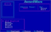 AwardWare for IBM PC/Compatibles - What type of text would you like?