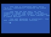 G.F.S. Sorceress for Atari 8-bit - Examining the ship I see it is the G.F.S. Sorceress...