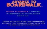 Advance to Boardwalk for IBM PC/Compatibles - Copyright information.