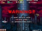 Darius Gaiden for Arcade - Like all Darius games, there's a warning just before the end of level boss battle...