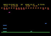 Avalanche for Atari 8-bit - Missed another rock!