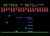 Avalanche for Atari 8-bit - Game over.