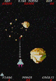 Sky Fox for Arcade - One asteroid destroyed...