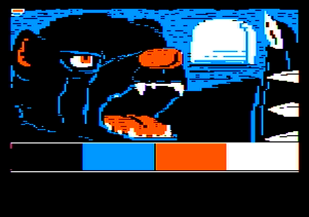 Adventure Master Apple II Screenshot: Editing game graphics.