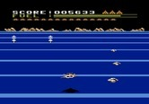 Buck Rogers: Planet of Zoom for Atari 5200 - Avoid the incoming flying saucers...