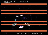 Buck Rogers: Planet of Zoom for ColecoVision - Enemy saucers appear from all directions...