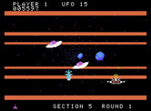 Buck Rogers: Planet of Zoom for ColecoVision - Enemy saucers still appear, even in the asteroid field...