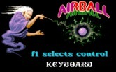 Airball for IBM PC/Compatibles - Input device selection.