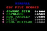 Airball for Apple IIgs - Top scores.