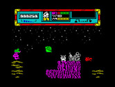 Starquake for ZX Spectrum - The starting location.