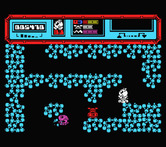 Starquake for MSX - Navigating the maze-like planet...