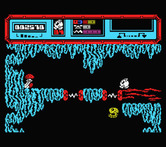 Starquake for MSX - Those electrical fields instantly drain all energy; be careful!