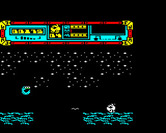 Starquake for BBC Micro - Firing at an opponent.